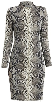 Akris Python-Print Stretch Silk Dress