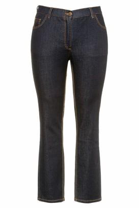 Ulla Popken Women's Viluno Siasa L/s Dress/rp/tb/su Slim Jeans