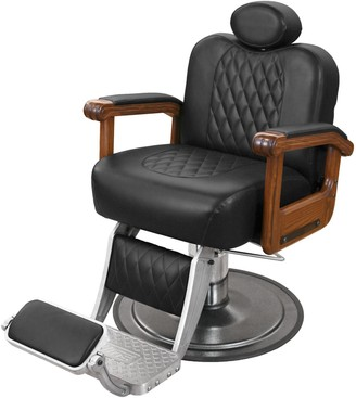 Collins Cavalier Barber Chair with Oak Arms