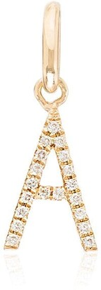 Rosa De La Cruz A 18K yellow gold diamond charm