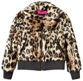 Juicy Couture Faux Leopard Print Bomber Jacket