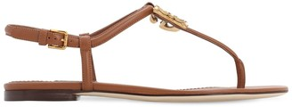 Dolce & Gabbana 10MM LOGO LEATHER THONG SANDALS
