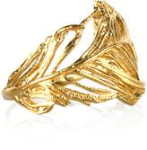 Alex Monroe 22-karat gold-plated feather ring