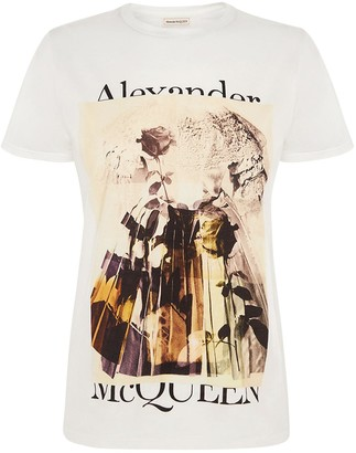 Alexander McQueen Tromp Oeil Over Cotton Jersey T-shirt