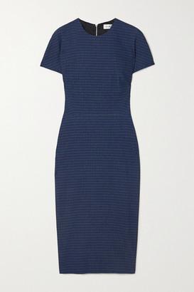 Victoria Beckham - Cotton-blend Jacquard Dress - Blue
