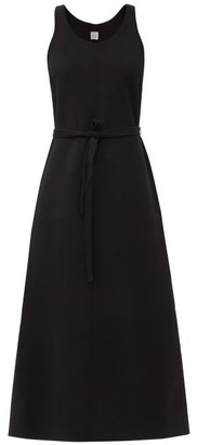 Totême Belted Wool-blend Maxi Dress - Black