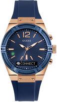 GUESS Women's Analog-Digital Connect Blue Silicone Strap Smartwatch 41mm C0002M1