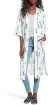 Vigoss Women's Floral Print Duster Kimono