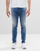 Diesel Sleenker Skinny Jeans 852V Light Wash