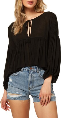 O'Neill Rosie Tie Neck Top