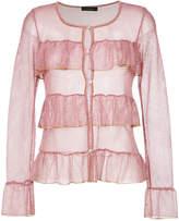 Cecilia Prado metallic open knit Indira coat