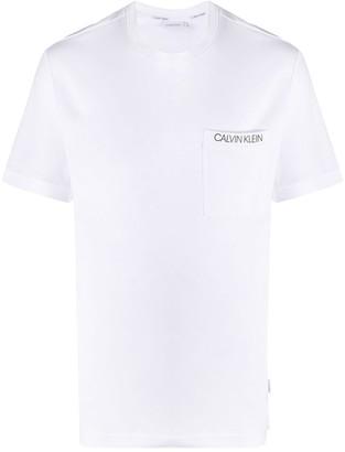 Calvin Klein Logo-Print Patch Pocket T-Shirt