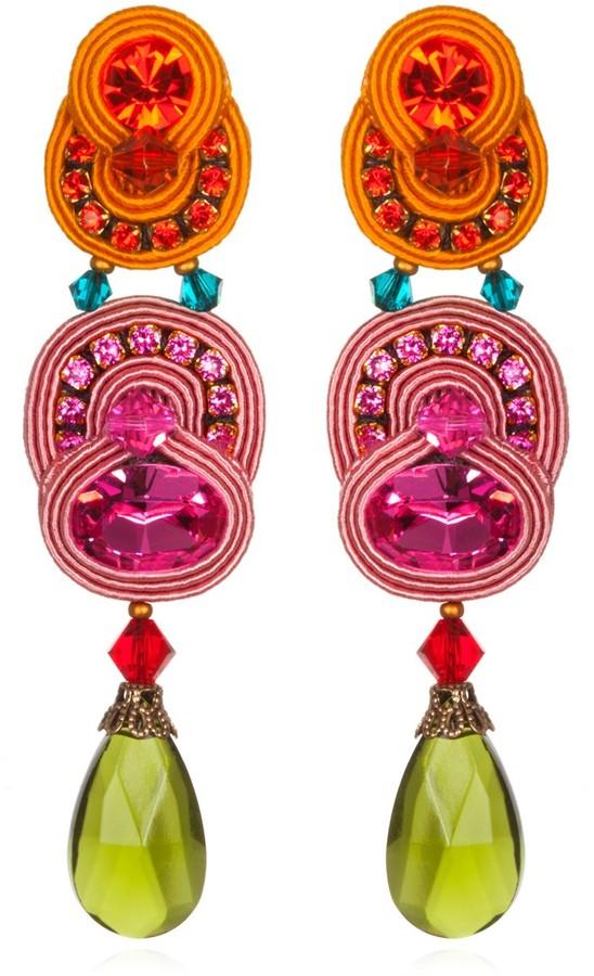 Dori Csengeri Orange Folies Dangle Earrings