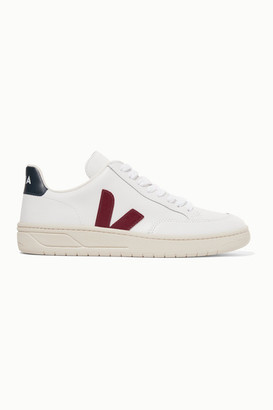 Veja + Net Sustain V-12 Leather Sneakers - White