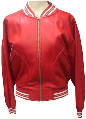 Versus Red Leather Coat for Women