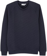 J.lindeberg Chad Navy Quilted Jersey Sweatshirt