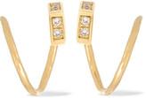 Maria Black - Twirl 18-karat Gold Diamond Earrings - One size