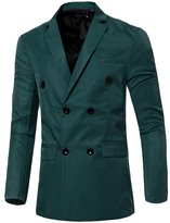 CFD Men's Casual Double-Breasted Suit Coat Jacket XL
