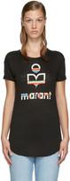 Etoile Isabel Marant Black Logo Kolda T-shirt