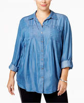 Style&Co. Style & Co Plus Size Denim Shirt, Only at Macy's