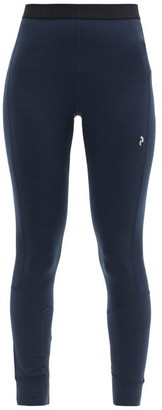Peak Performance Magic Wool-blend Thermal Leggings - Dark Navy