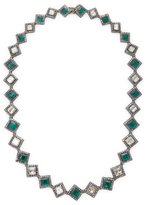 Artisan Single line Emerald and Diamond Necklace