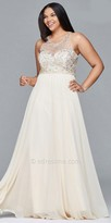 Faviana Illusion Beaded Plus Size Prom Dress