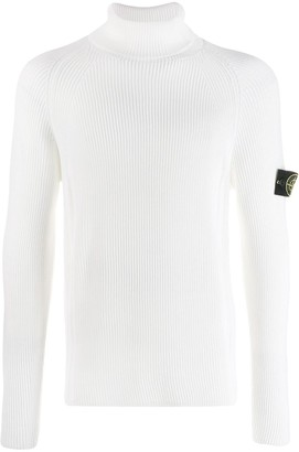 Stone Island ribbed roll neck jumper
