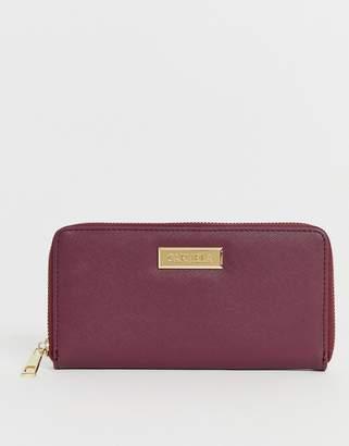 Carvela Annabelle zip purse in wine-Purple
