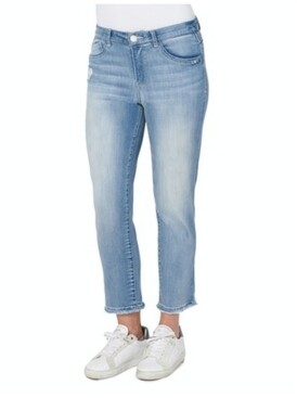 "Democracy Women's ""Ab"" Solution Slim Straight with Fray Hem Jeans"