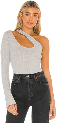 Lovers + Friends One Sleeve Cutout Top