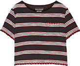 Moschino Striped cotton-blend tweed top