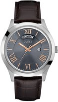 GUESS Brown and Silver-Tone Classic Watch