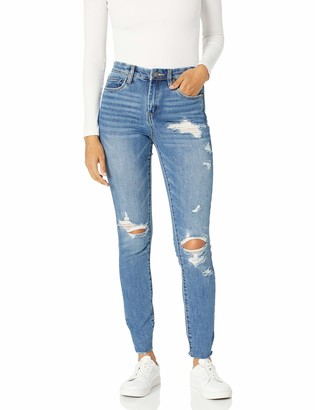 Blank NYC Women's High-Rise Distressed Skinny Jeans   Santa Fe Size 26
