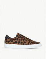 Kurt Geiger London Donnie leopard-print trainers