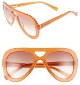 Derek Lam Women's 54Mm Aviator Sunglasses - Amber