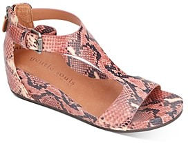 Gentle Souls by Kenneth Cole Women's Gisele T-Strap Wedge Sandals