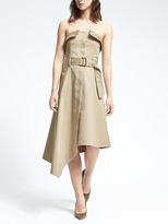 Banana Republic Strapless Asymmetrical Utility Dress