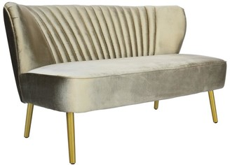 Darcy And Duke Coco Velvet Two Seater Sofa Vintage Gold