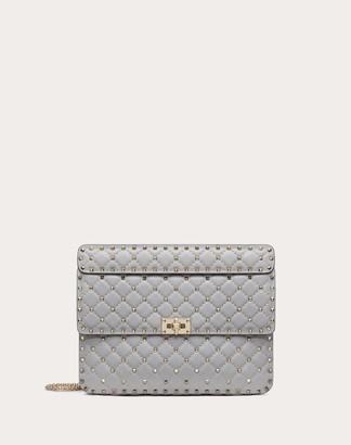 Valentino Garavani Large Rockstud Spike Nappa Leather Bag Women Rosso Lambskin 100% OneSize