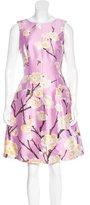 Oscar de la Renta Silk-Blend Cherry Blossom Print Dress