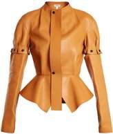 Loewe Engineered-leather peplum jacket