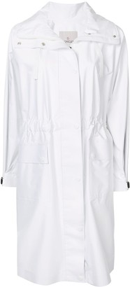 Moncler Gathered Waist Hooded Raincoat
