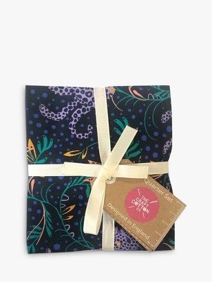 Visage Textiles Tropical Leopard Fat Quarter Fabrics, Pack of 4, Multi