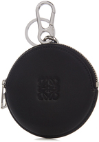Loewe Round leather coin purse key ring