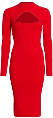 Victor Glemaud Cutout Merino Wool Dress