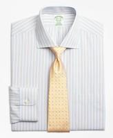 Brooks Brothers Milano Slim-Fit Dress Shirts, Non-Iron Framed Track Stripe