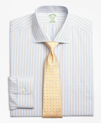 Brooks Brothers Milano Slim-Fit Dress Shirts, Non-Iron Framed Track Stripe