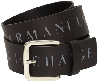 Armani Exchange 4cm All Over Print Leather Belt