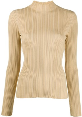 Acne Studios High-Neck Ribbed Top